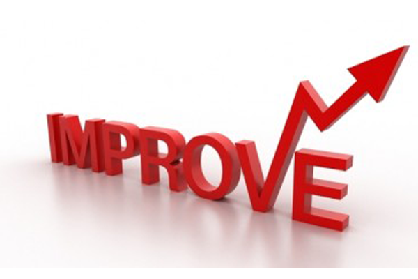 The word Improve with an upward movement arrow
